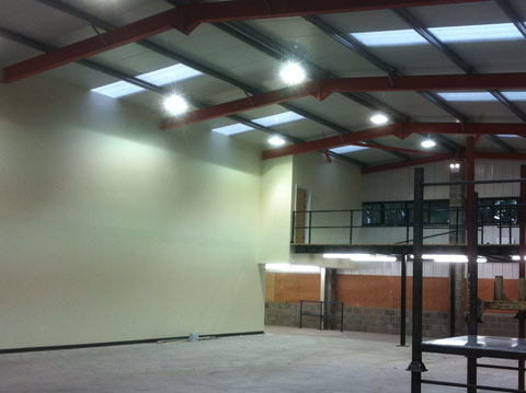 Industrial Electrical Work - Warehouse Hampshire