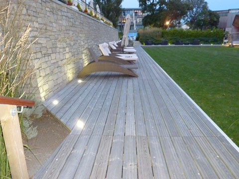 Commercial Electrical Work - Hotel Outdoor Lighting Hampshire